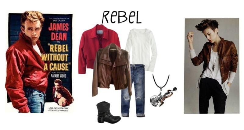 """Steal the look of Classic James Dean from """"Rebel Without a Cause."""""""