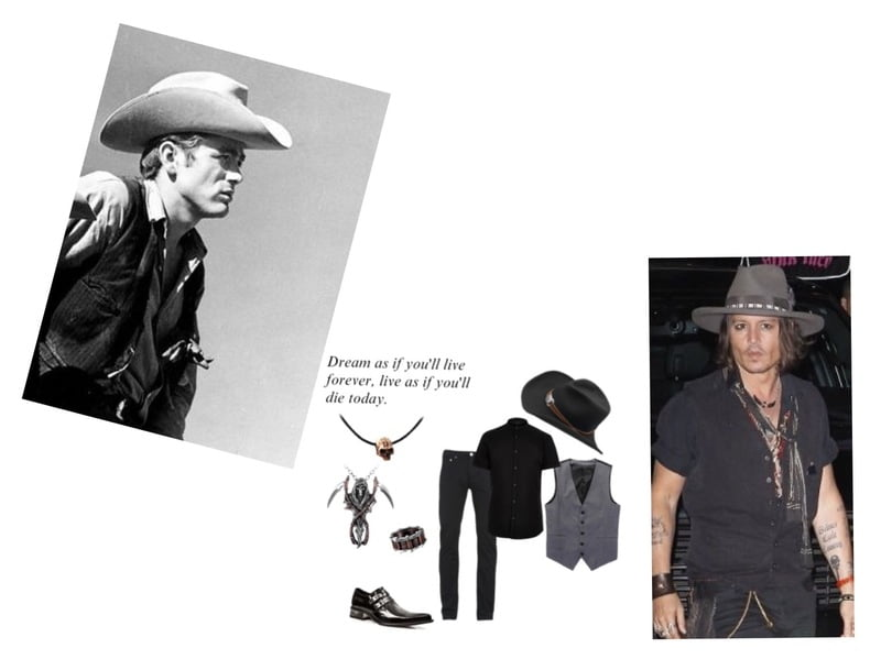 A cowboy hat is signature of Classic James Dean style!