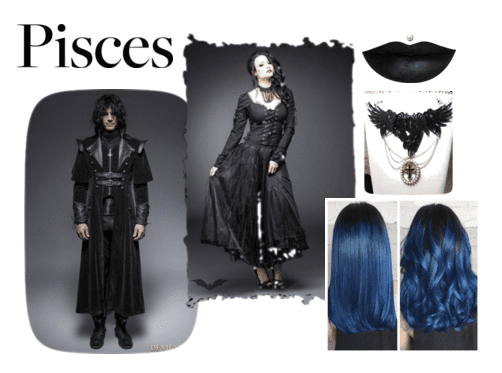 Goth fashion to show the dark side of your Sun Sign!