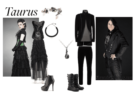 Styles to show the dark side of the Taurus Goth!