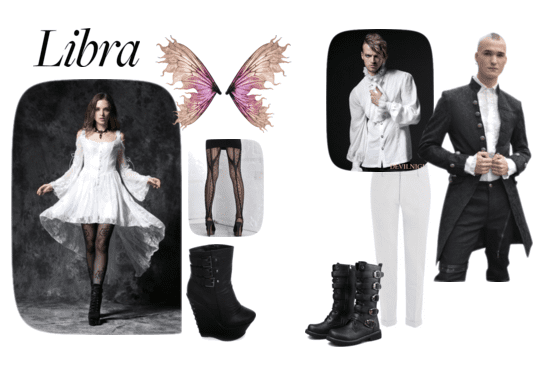 Libra Goths embrace winged creatures and shades of white!