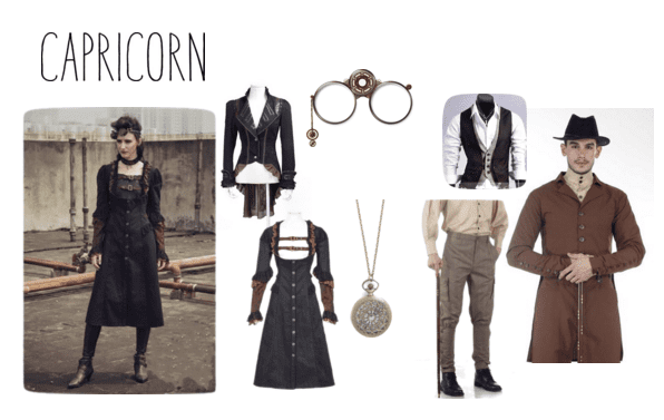Goth fashion for the down-to-earth Capricorn!