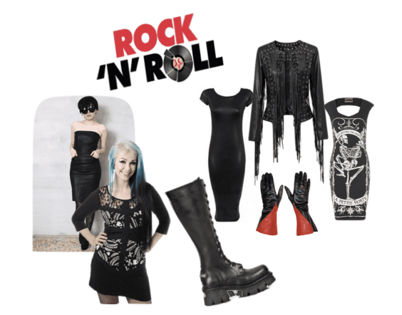 Knee length punk rock boots for the rocker chick!