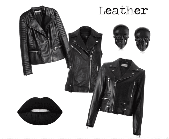 Layer a leather jacket over your punk rock look