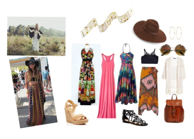 Boho beauty style with maxi dresses and skirts!