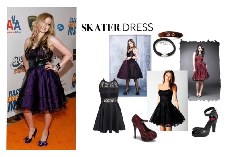 Steal the look - Avril Lavigne takes the gothic skater dress to the red carpet!