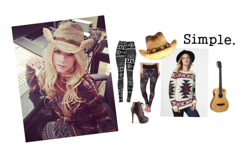 Steal the look -- Avril Lavigne gets cowboy cozy in the studio!