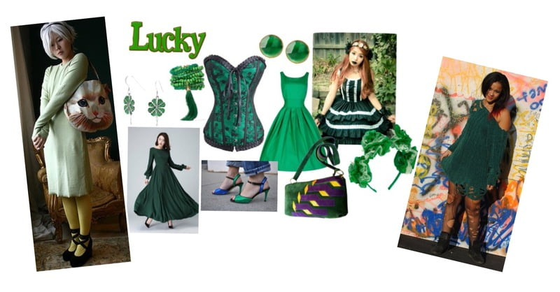 St. Patty's Day over-the-top fashion looks!