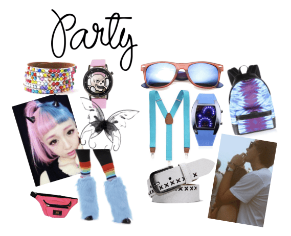 Play with bold accessories at an EDM concert!