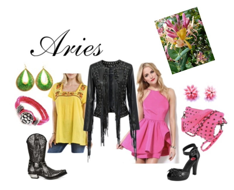 The Aries' birth flower is the honeysuckle!