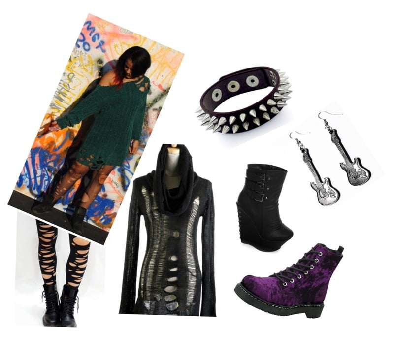 Grunge and punk rock style with distressed dresses!