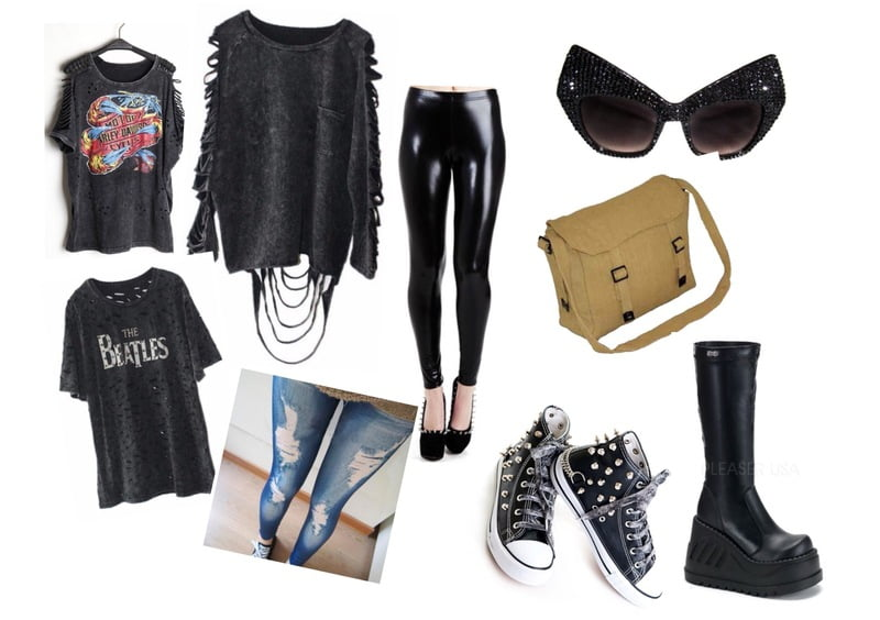 Distressed tops for an edgy grunge-punk style!
