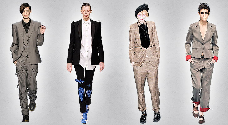 Pop on a blazer for a perfect androgynous look.