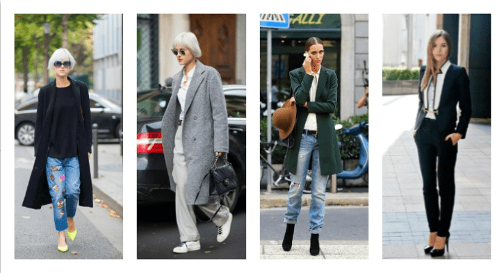 Long line blazers create a chic, androgynous look.