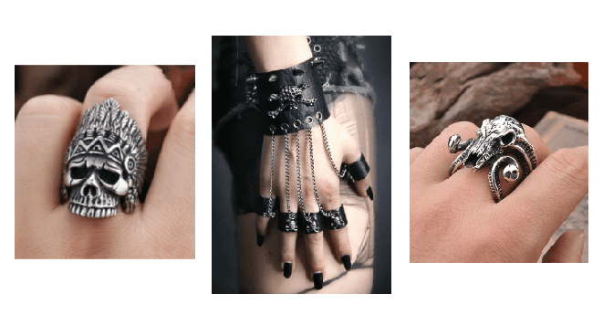 Wear a skull ring to add an edge to your androgynous outfit.