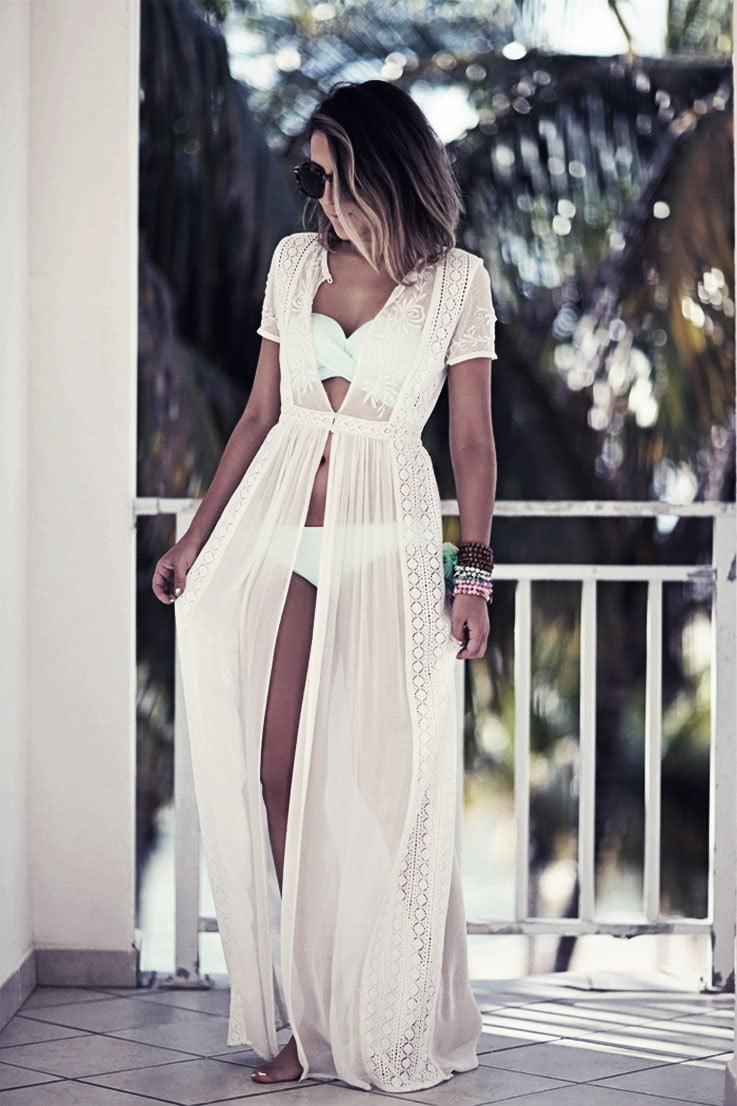 Pool party attire needs a cute flair when you are attending with a date.