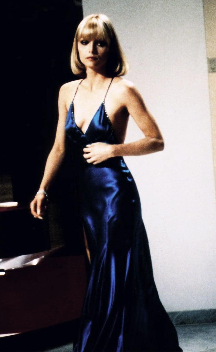 Michelle Pfeiffer's blue slip dress from Scarface