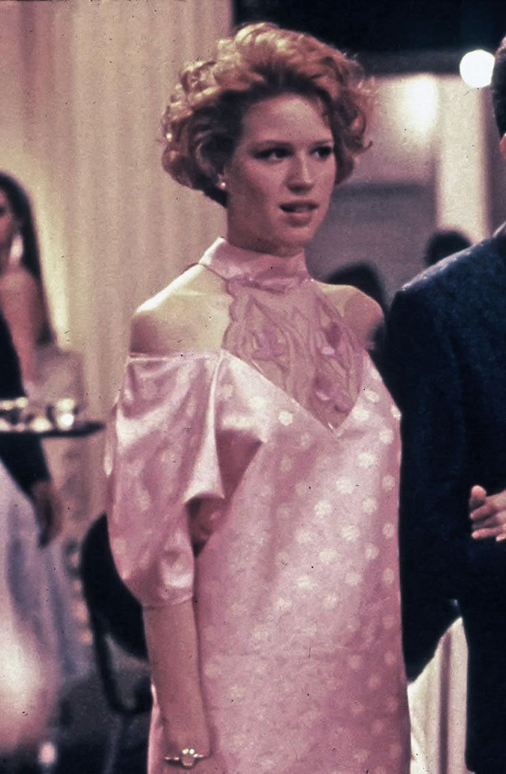 Molly Ringwald in her character's DIY prom dress from Pretty In Pink