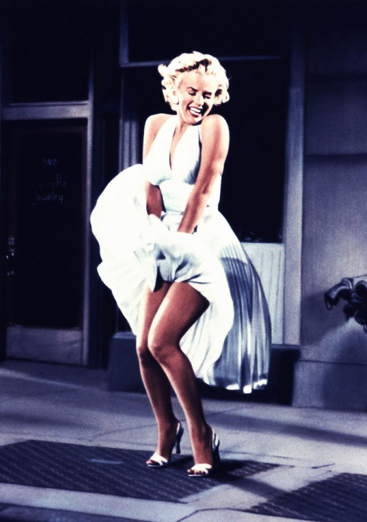 Marilyn Monroe's white halter dress from Seven Year Itch is a classic vintage style