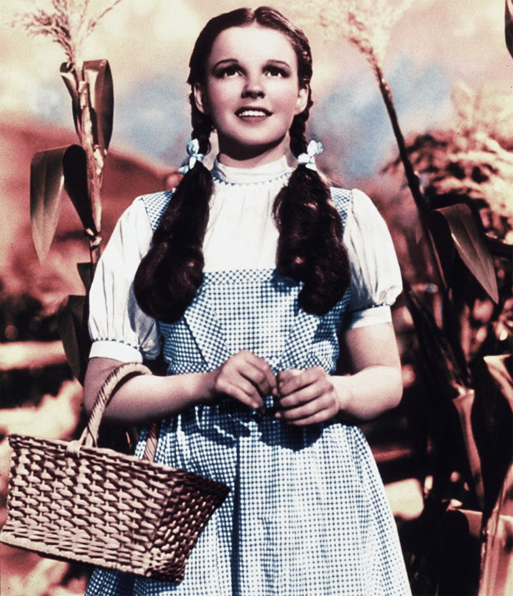 Who can forget the blue and white gingham dress worn by Julie Andrews as Dorothy in the The Wizard of Oz?