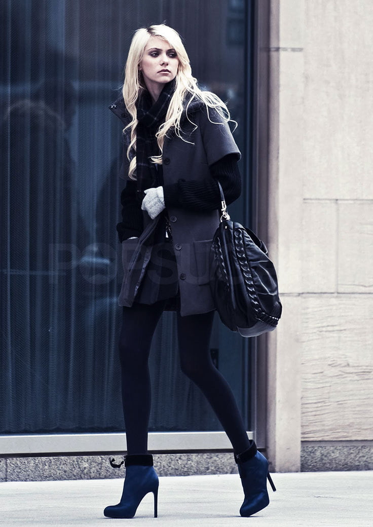 Taylor Momsen rocks sophisticate layers with a rebellious edge..