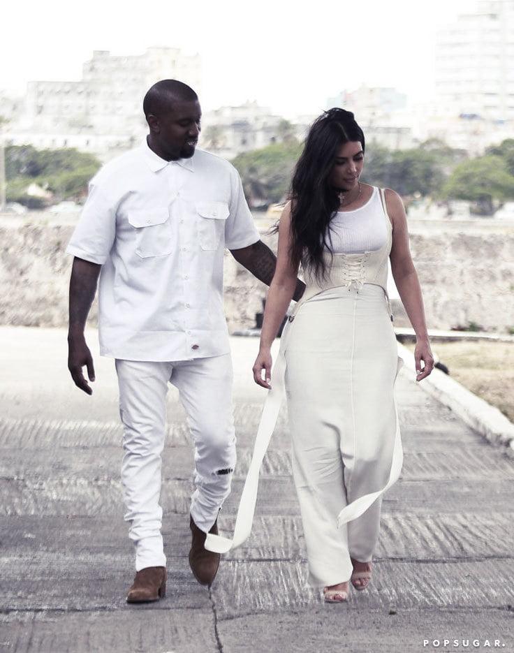 Kim Kardashian wears corsets as an outer layer.