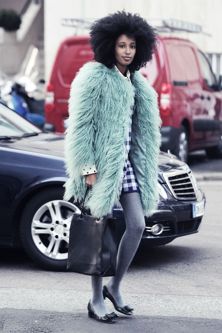 Faux fur feels good physically and ethically. Alternative materials are an easy way to go eco-friendly with your wardrobe.