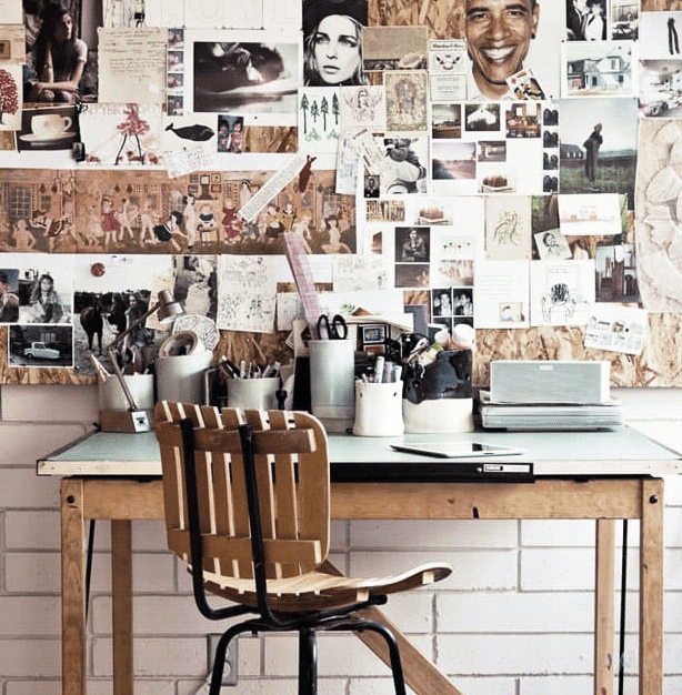 Create an inspiration board in your dorm to add instant alternative style with a motivational bonus.