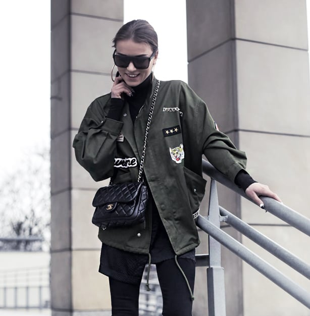 Personalize a military style jacket with a variety of patches.