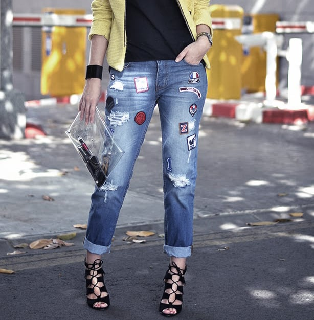 Give your jeans an alternative flare with patches.