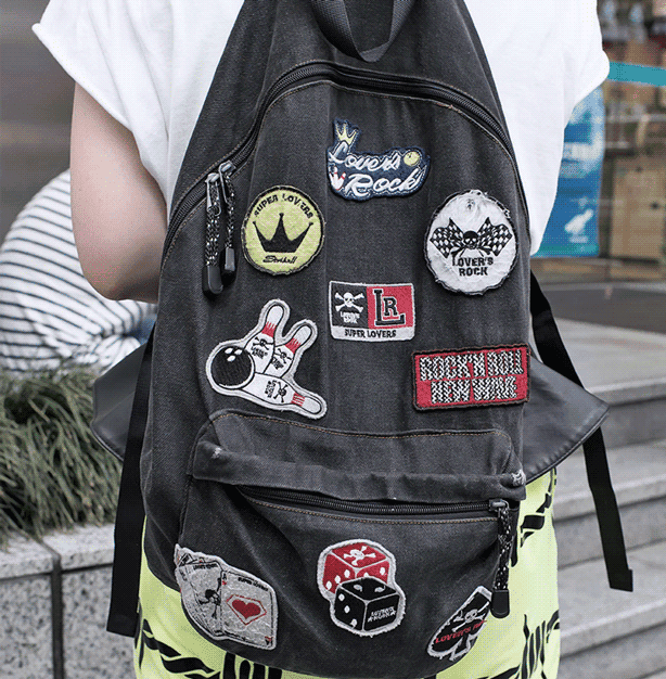 Patches are an easy way to customize a bookbag.