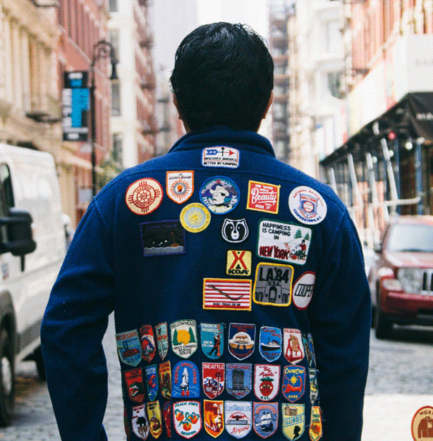 Don't be afraid to add multiple patches to your clothing.