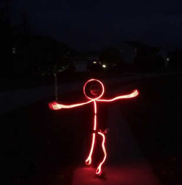 Unique Costume Idea - LED Stick Figures