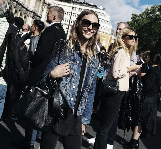Modernize a classic denim jacket for Paris Fashion Week Street Style