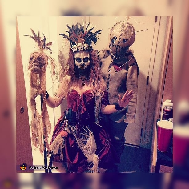 Voodoo and Witch Doctor Themed DIY Halloween Costumes