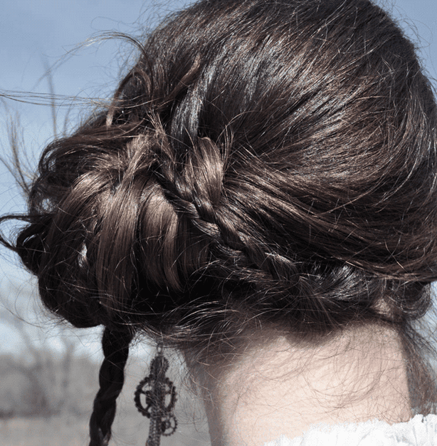 Victorian influenced hair styles can easily bring Steampunk style to your Office Attire.