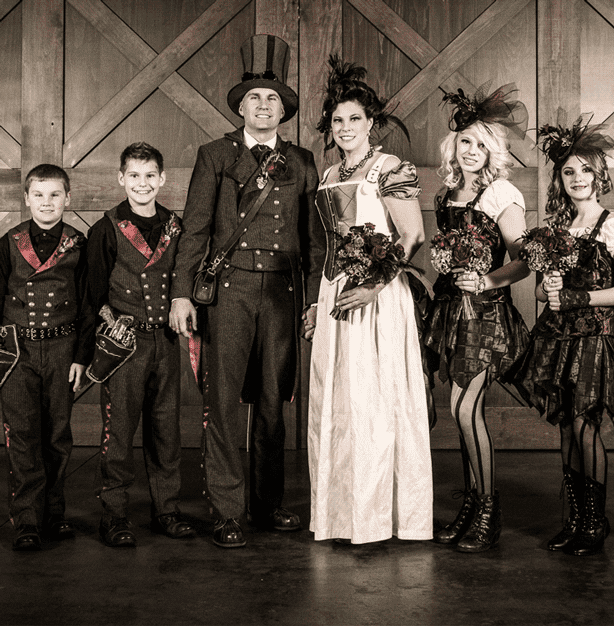 Steampunk is seen more often at conventions than in corporate settings.