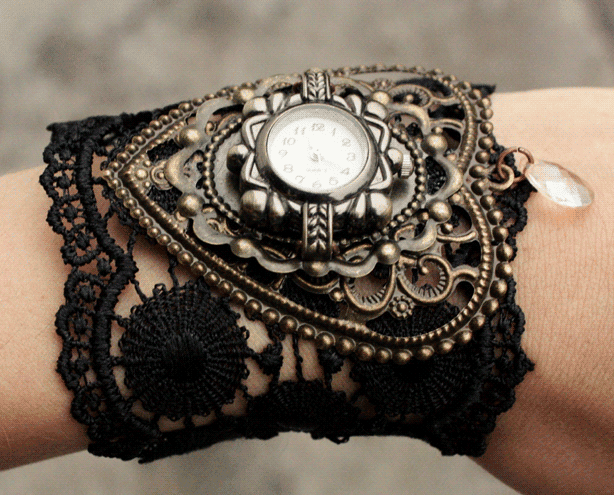 Gears and brass accessories let you rock a Steampunk look at work.