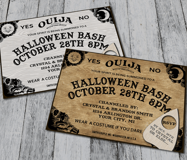 Ouija themed Halloween Party ideas.