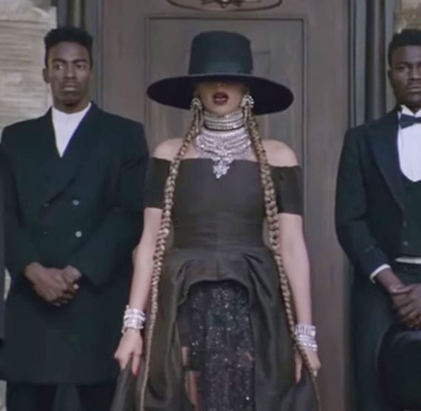 Beyoncé mixes many styles like Gothic Victorian and Boho to create modern looks with retro flair.