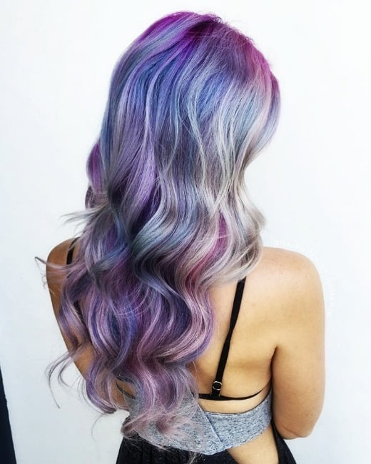 Colored hair trend for alternative style