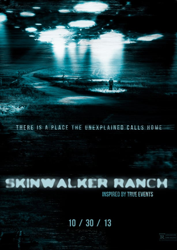 Promotional poster for the underrated horror movie Skinwalker Ranch