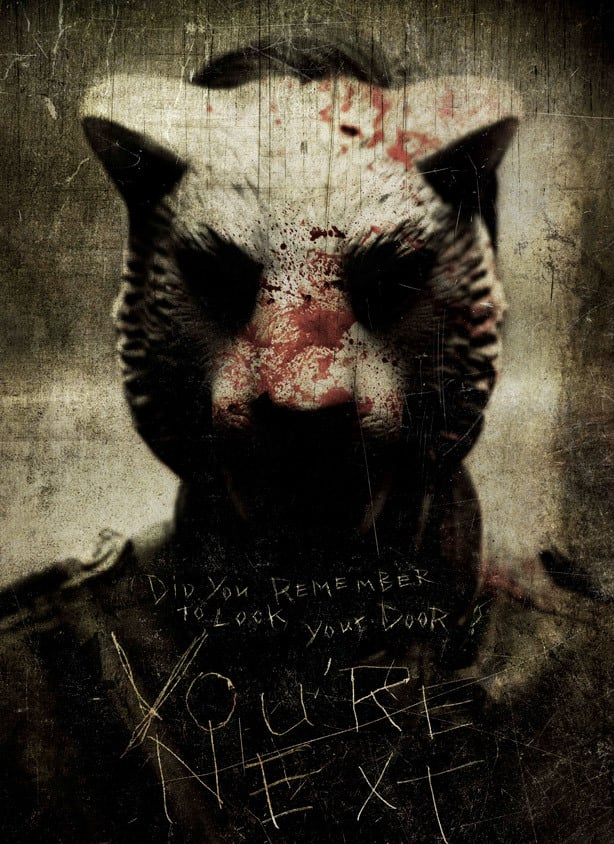 Promotional poster for the indie horror movie You're Next