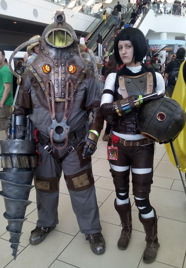 Bioshock cosplayers at a video game convention