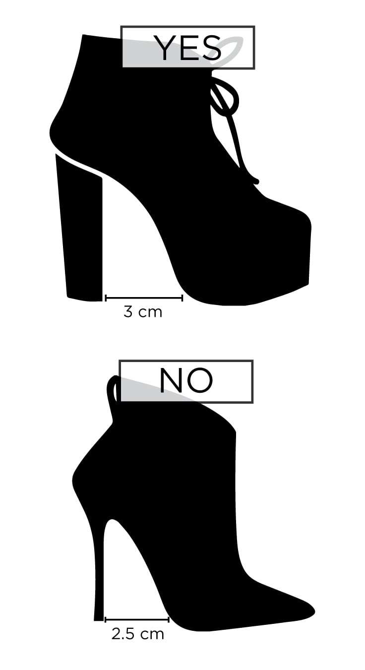 Infographic showing how to choose comfortable boots