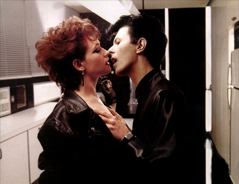 David Bowie as a Vampire in the movie The Hunger