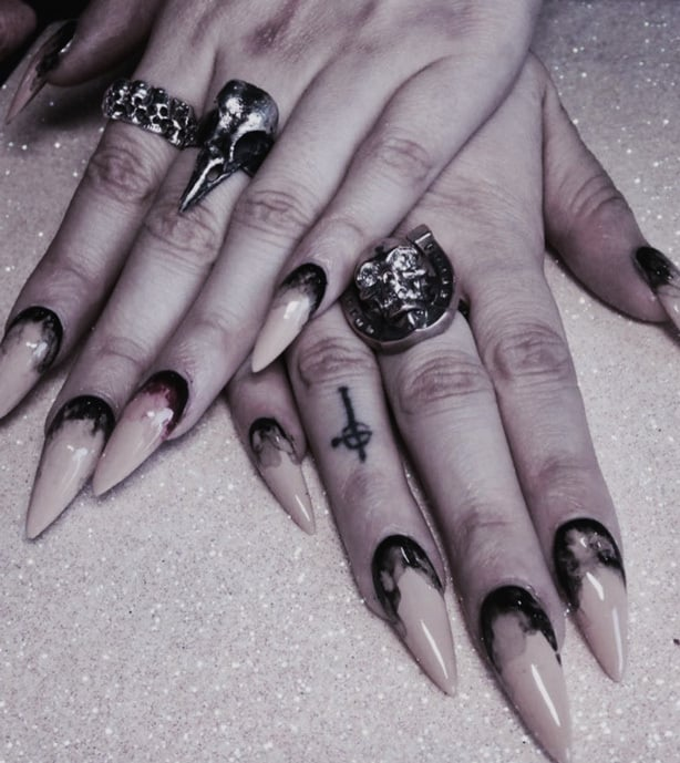 Your Guide to Acrylic Nails: Gothic Nail Art