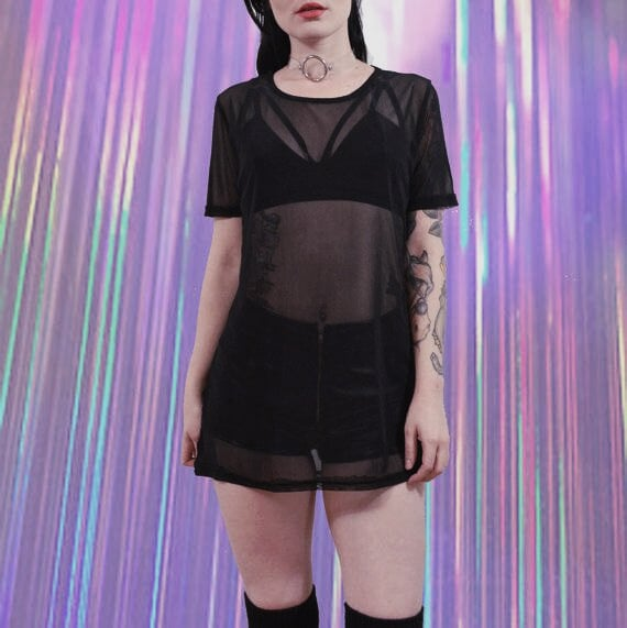 Alternative Outfits for The Beach: Sheer Gothic Cover-up