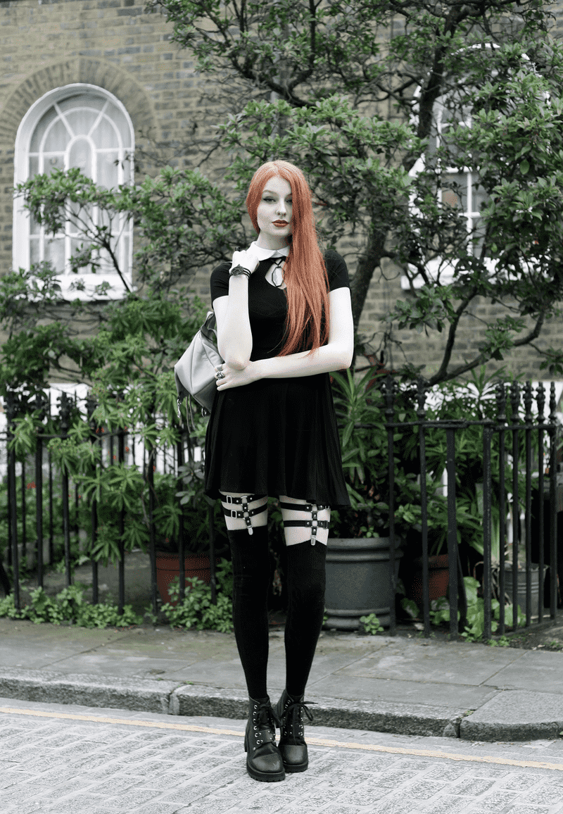 How to Style a Gothic Harness: Leg Harness Garters with Gothic Clothing