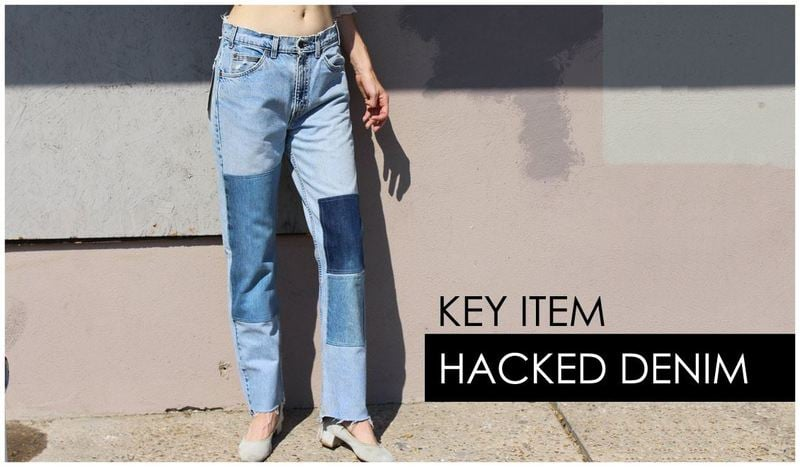 Best Fall/ Winter 2017 Trending Styles and Colors: Hacked Denim Trend